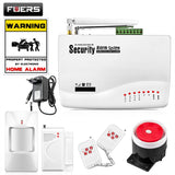 FUERS Wireless GSM Alarm System Dual Antenna Alarm Systems Security Home Alarm Russian English Voice with PIR detector