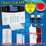 Free Shipping!Wireless APP SIM GSM Home Burglar Security LCD Keyboard GSM Alarm System Sensor kit English Spansih Russian Voice