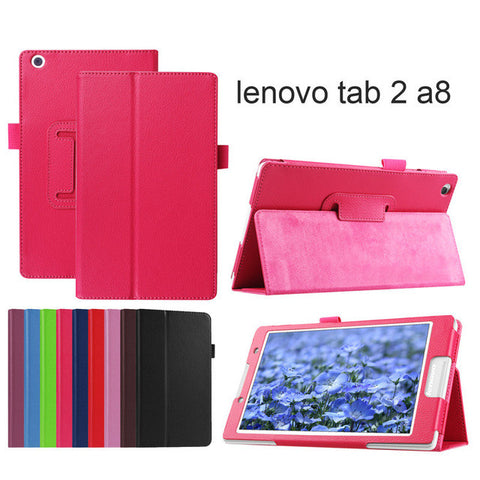 2017 Case For Lenovo tab2 A8 8 inch PU leather stand protective cover for Lenovo tab 2 A8-50 A8-50F A8-50LC 8'' tablet.
