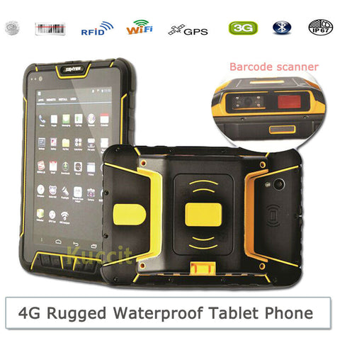 $$$SAVE$$$ 7 Inch Android Rugged Waterproof Tablet PC 2D Barcode Scanner PDA ST907 4G LTE HF UHF RFID Phone Fingerprint Reader GPS Infrared