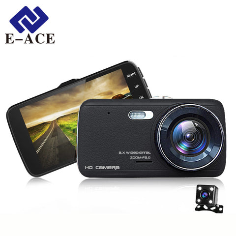 Camera Dual Lens + Rearview Distance Warning + Night Vision Dashcam