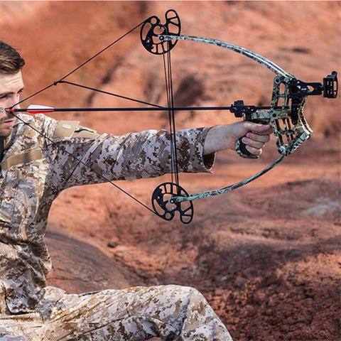 $$$SAVE$$$ Fishing Compound Bow left and right handed - arco recurvo 50lbs - Small, light and Strong Sturdy