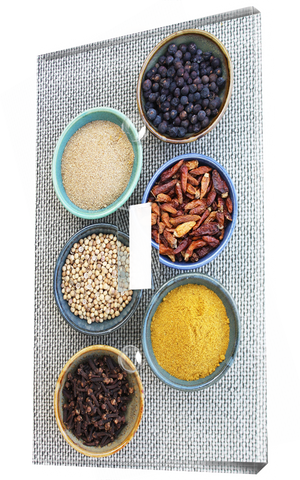 Aromatic spice and condiments in Kitchen