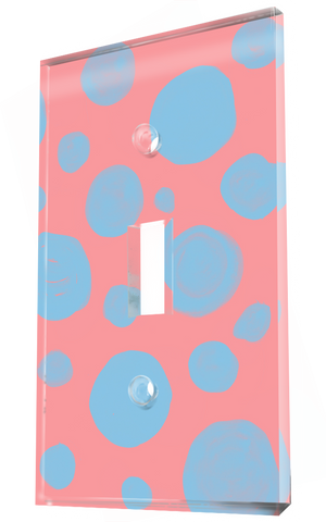 Pink And Faded Blue Polka Dot Pattern