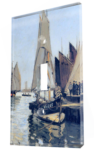 Sailing Boats At Honfleur 1866: Claude Monet