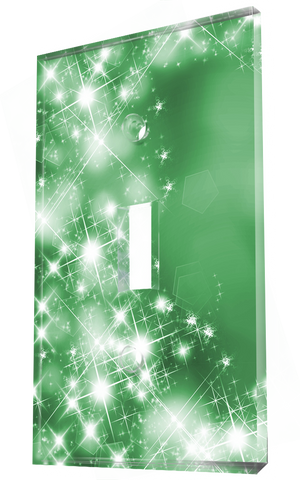 Christmas Themed Bright Stars In Green Background