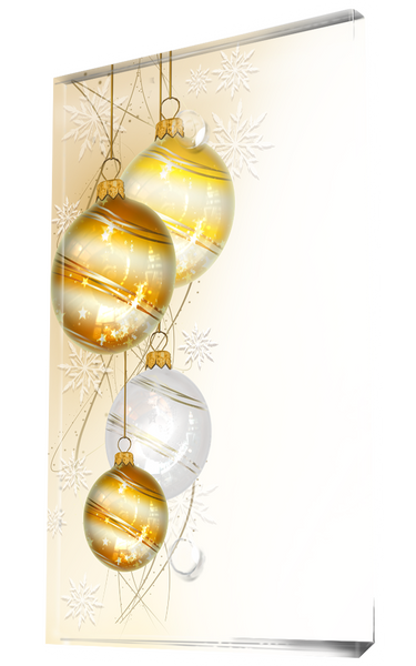 Yellow, White And Gold Christmas Ball Ornament