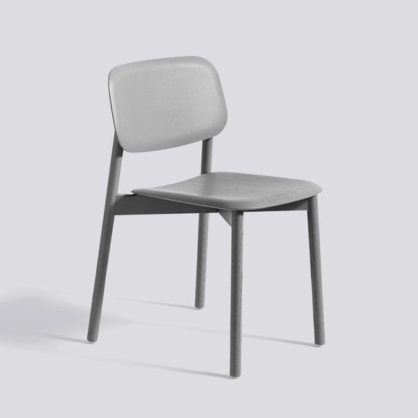Soft Edge Chair Grey Wood Frame