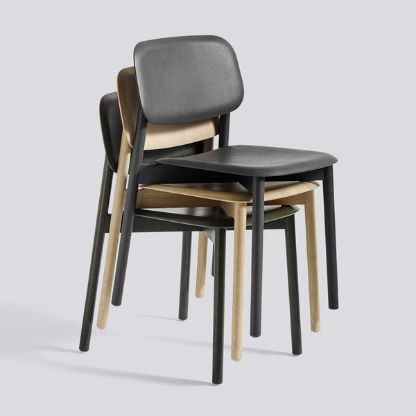Soft Edge Chairs Wood Frame Stacked