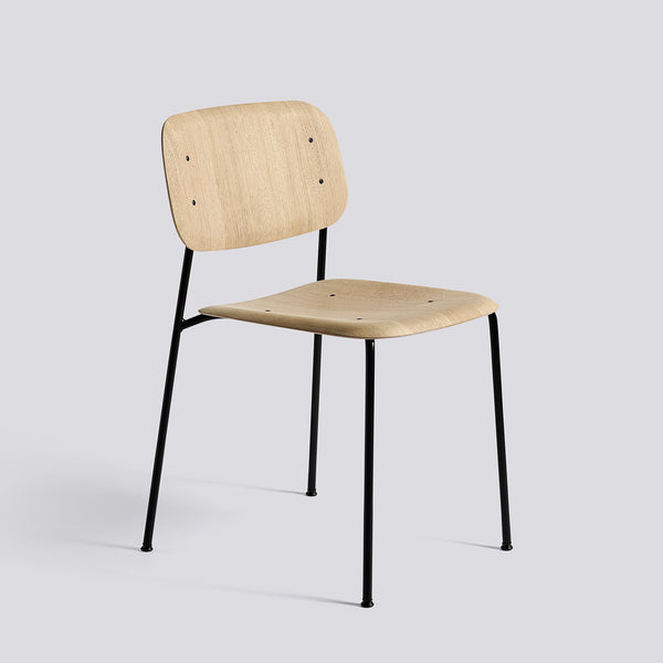 Soft Edge Chair Metal Frame Oak