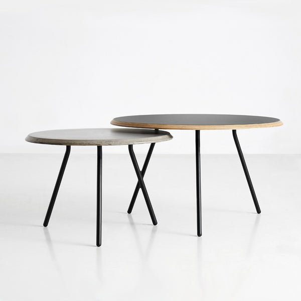 Soround Coffee Table Black and Concrete