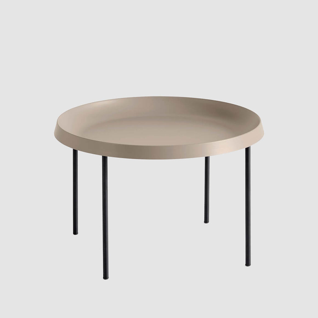 Fluoro Coffee Table Square In Matt White With Black Metal: Coffee & Side Tables