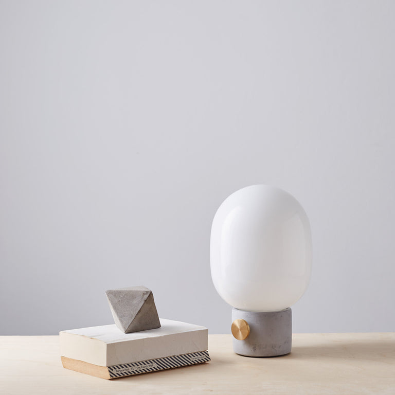 JWDA Concrete Lamp With Brass Dimmer