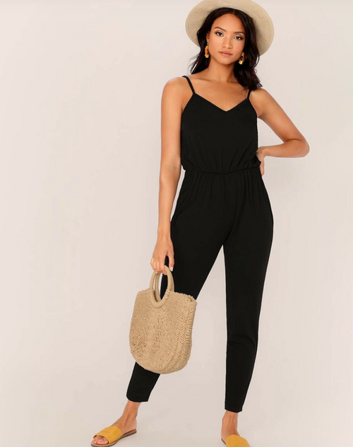 Azia Black Jumpsuit