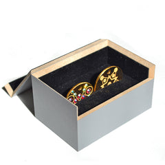 Double PugPendant box. Luxury identity discs from Canine Chic of London