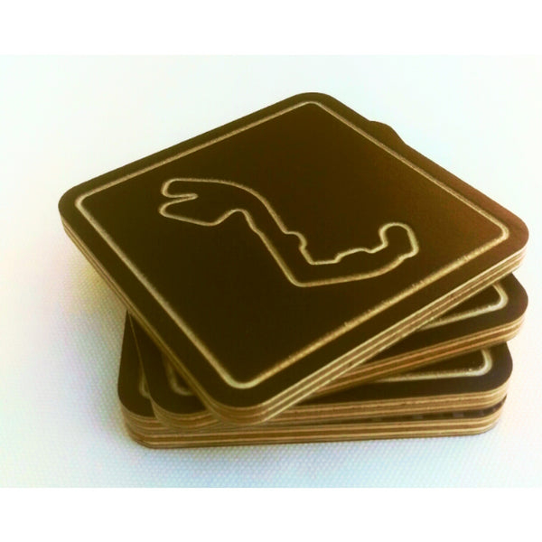Coaster Set of 6 - Black