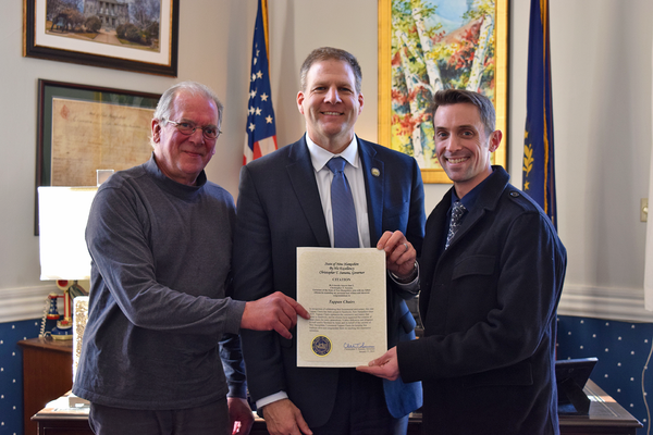 Tappan Chairs Bicentennial Citation from Governor Sununu