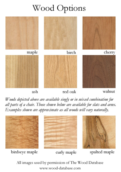 Our Materials and Finishes – Tappan Chairs, LLC