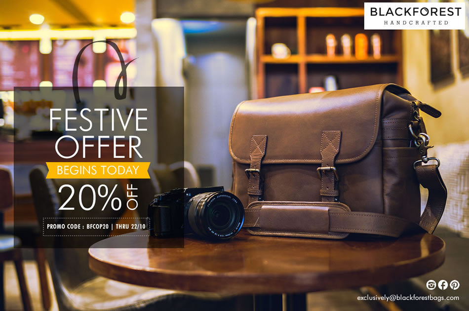 Blackforest Bags presents Special Diwali Offer: 20% Off through October 22nd!