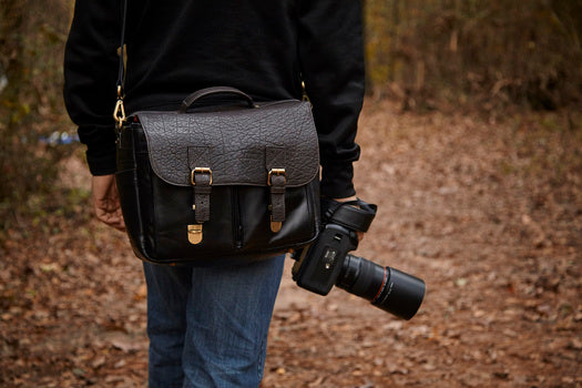 Blackforest Camera Messenger Bags, All Leather Vinson