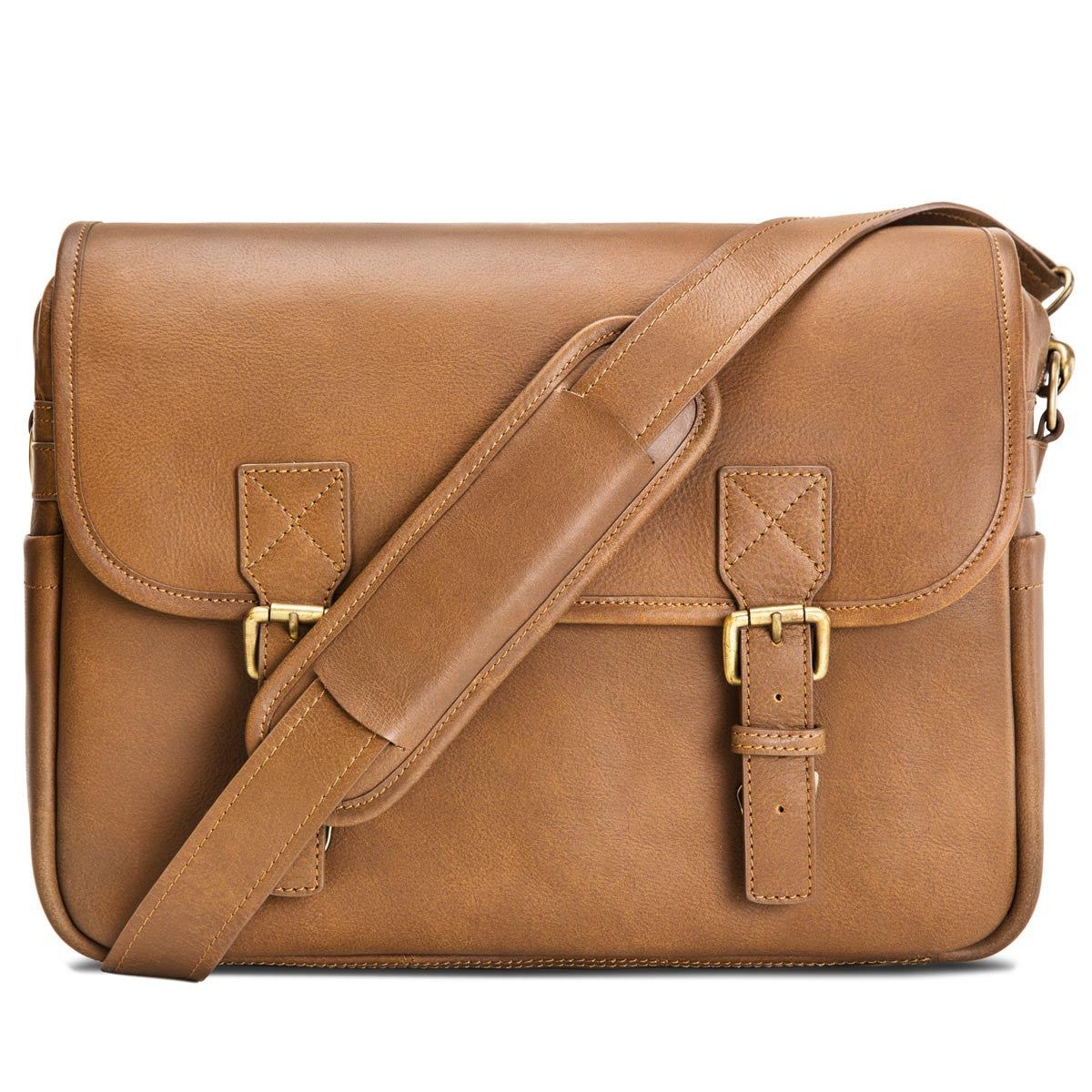f69d098557f Rimo I, stylish camera messenger bag in brown leather by Blackforest bags;  Luxury ...
