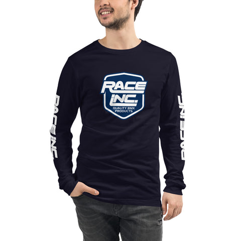 Race Inc. Blue Logo Long Sleeve T-Shirt