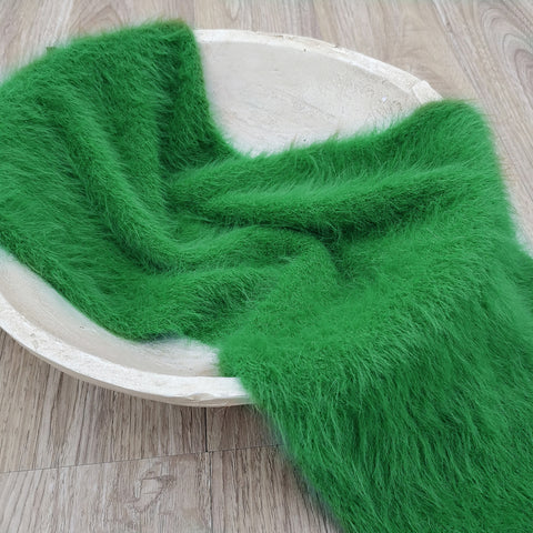 New! 140x30cm Soft Stretch Hand Knitted Baby Mink Fur Wrap Infant Swaddle Blanket for Newborn Baby Photography Accessories