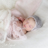 Newborn Baby Photo Prop Hand Knit Mohair Baby Bonnet - Don&Judy Newborn&Maternity photography props