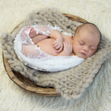 Beautiful Hammock 150x45cm Newborn Baby Stretchy Lace Wrap with Ball Fringe Baby Wraps for Newborn Photography Props