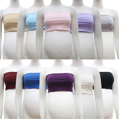 Clearance Stretchy Cotton Boob Tube Top Maternity Photo Dresses - Don&Judy Newborn&Maternity photography props