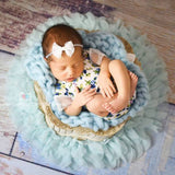 Newborn Photography Props Handcraft Soft Chiffon Round Flower baby photo Blanket - Don&Judy Newborn&Maternity photography props