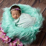 Faux Fur Newborn Blanket Basket Fillers Mongolia Blanket Newborn Props Photography (150*100cm) - Don&Judy Newborn&Maternity photography props