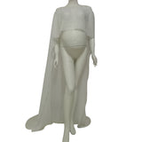 D&J Maternity Pregnant Female Dresses  Chiffon Long Dress Cloak Cape Maternity Photography Props for Pregnant Women - Don&Judy Newborn&Maternity photography props