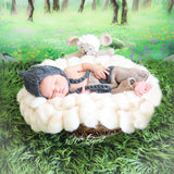 Newborn Photography Props Handcraft Soft Wool Cloud Bubbles Blanket Baby Photo Shoot - Don&Judy Newborn&Maternity photography props
