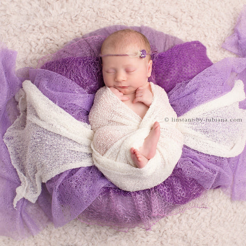 Knit Mesh Gauze Newborn Photography Wrap Baby Receiving Newborn Photo Props Wraps 10pcs/lot - Don&Judy Newborn&Maternity photography props