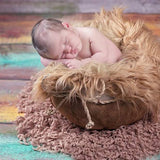 Newborn Photography Props Hand crochet Round baby photo Blanket with fringe - Don&Judy Newborn&Maternity photography props
