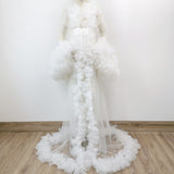 Soft Tulle long Bell sleeve Maternity Photography Dress One size fit all accept customize Maternity Photography Gown