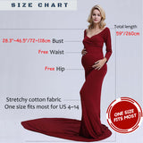 Soft Cotton Stretchy Tight  Maxi Long Tail and Elegant Mermaid Dress for Maternity Photography Props - Don&Judy Newborn&Maternity photography props