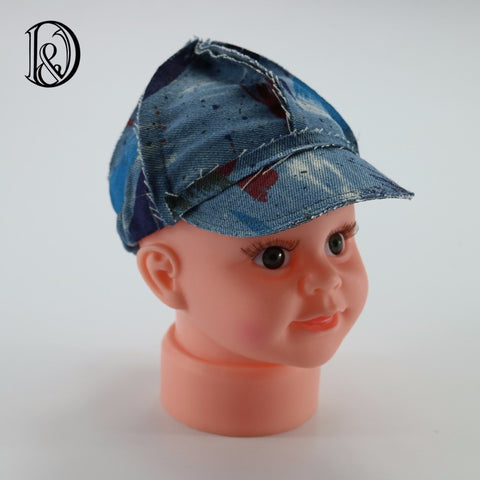 Handcraft Jeans hat Baby Bonnet Newborn Photo Props - Don&Judy Newborn&Maternity photography props
