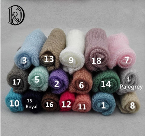 Hand Knit Mohair Newborn Wraps Newborn Wrap Props Newborn Props Photography 60x40cm (10pcs/lot) - Don&Judy Newborn&Maternity photography props