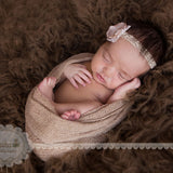 Knit Stretchy Newborn Wraps Basket Fillers Newborn Receiving Newborn Photo Props Wraps 20pcs/Lot - Don&Judy Newborn&Maternity photography props
