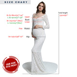Off Shoulder Long Sleeves Formal Maternity Dress with Long Train Maxi Maternity Shoot Dresses 260cm