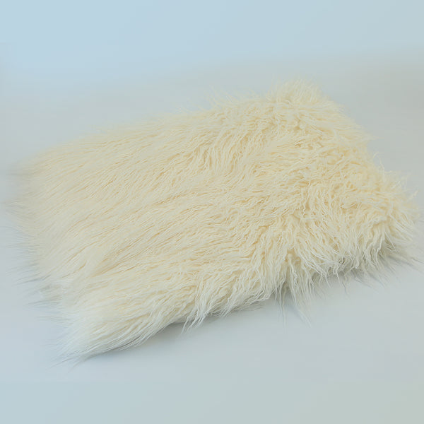 Soft Long Pile Mongolia Faux Fur Newborn Photography Background - Don&Judy Newborn&Maternity photography props