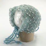 Handmade Knit Small Bobble Bonnet Newborn Baby Girl Photo Props - Don&Judy Newborn&Maternity photography props
