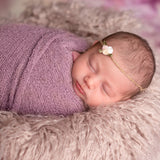 Diameter 60cm Soft Long Pile Mongolia Faux Fur Newborn Photography Blanket - Don&Judy Newborn&Maternity photography props