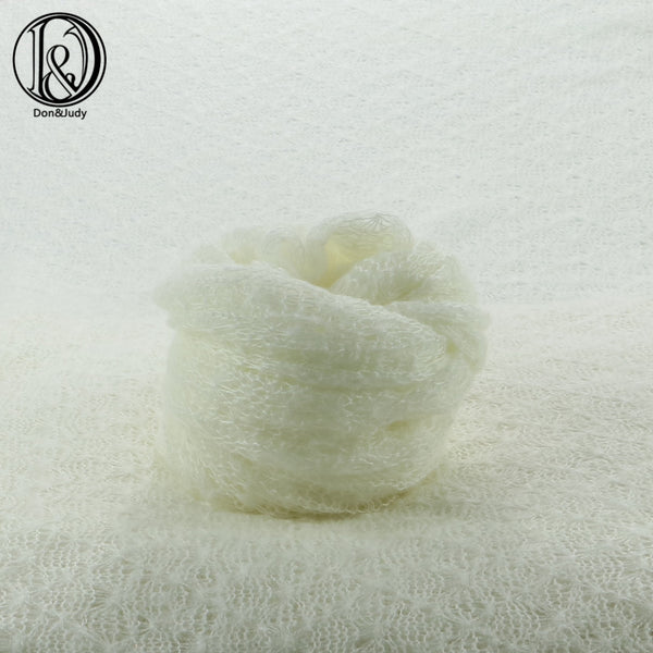 Stretchy Knit mohair 40x150cm newborn baby photo Wraps Receiving Blankets Newborn photography props Acrylic Stretch Swaddle - Don&Judy Newborn&Maternity photography props
