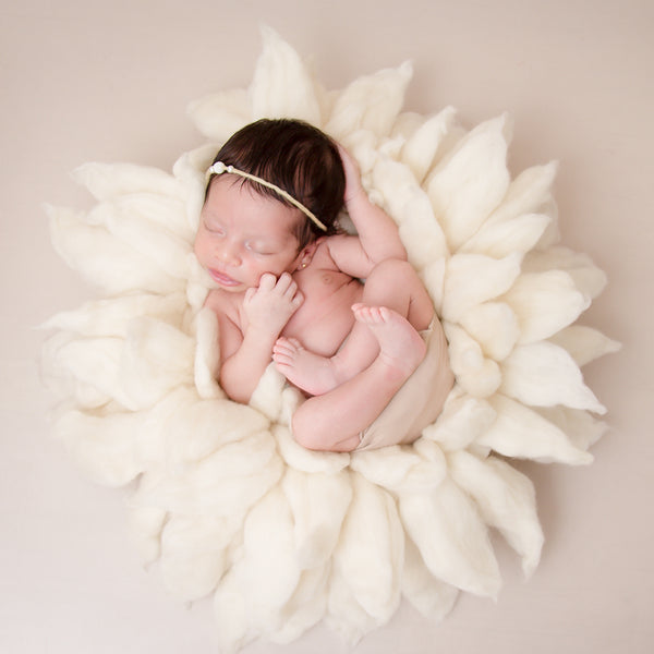 Handcraft Pure Wool Fox-Brush Style Newborn Photography Blanket - Don&Judy Newborn&Maternity photography props