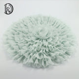 Newborn Floral Blanket Backdrop Soft Cotton Mat Handmade Round Blanket Newborn Photography Props - Don&Judy Newborn&Maternity photography props