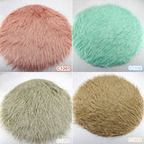 Diameter=60cm Faux Fur Round Cushion Blanket Photography Props Newborn Photography Props - Don&Judy Newborn&Maternity photography props