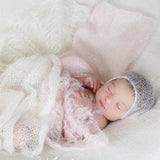 Handknit Baby Bonnet Soft Little Size Newborn Props Photography - Don&Judy Newborn&Maternity photography props